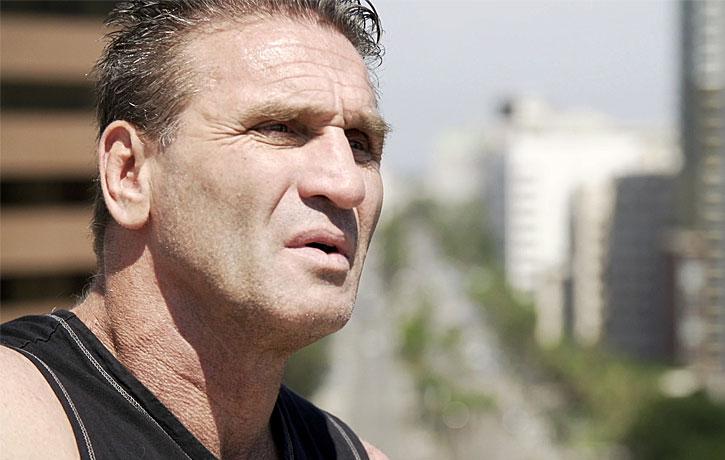 Veteran MMA fighter Ken Shamrock checks in