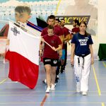 The Maltese flag leads the way