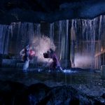 The water gives the choreography an extra dimension
