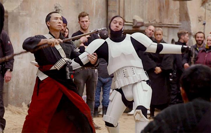 Donnie Yen practicies taking out British Stunt Performer Andy Wareham