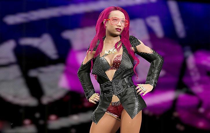 Sassy Sasha Banks heads for the ring