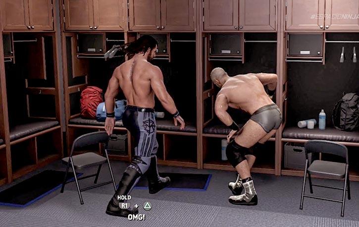 Taking it to the locker room