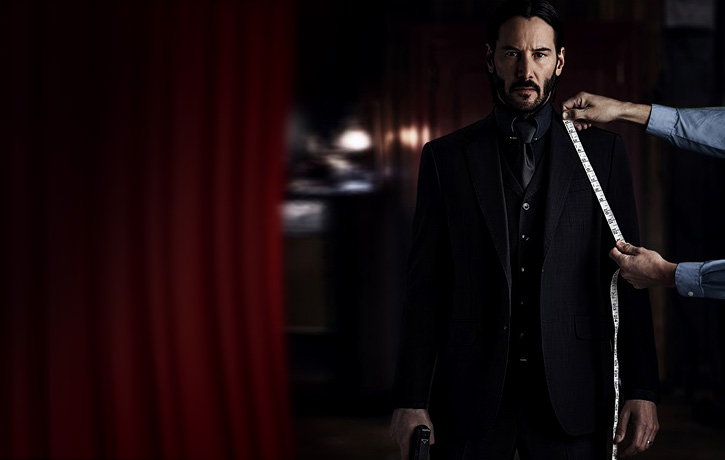 John Wick hopes its just a suit he is being measured for