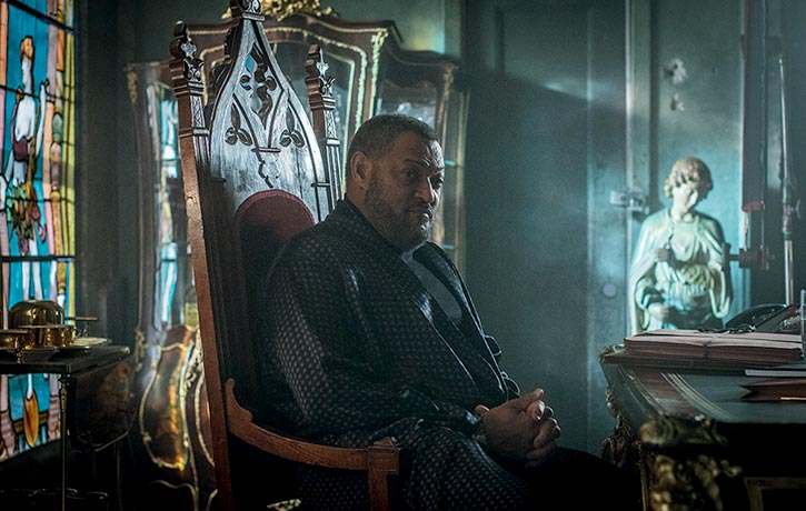 Laurence Fishburne stars as The Bowery King