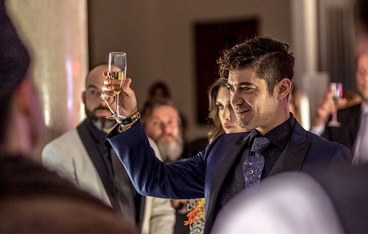Riccardo Scamarcio as the slick Santino