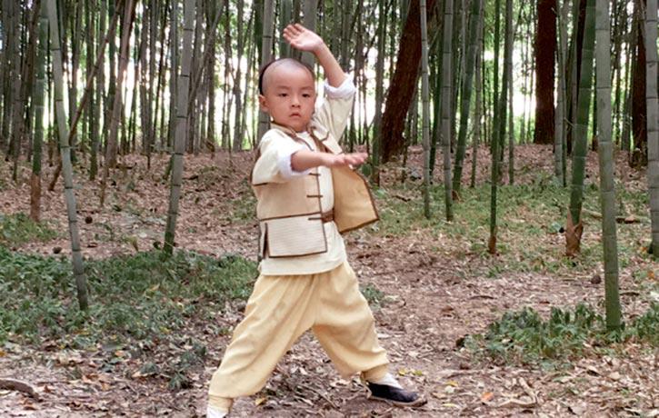 Young actor Li Le tian as Wong Fei hung