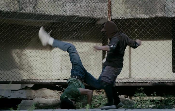 B-boying with kicks!