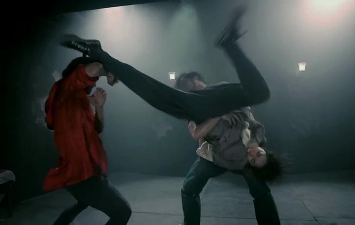Dancing and kicking