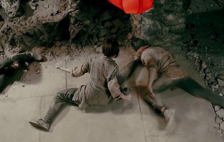 The epic split and kick!