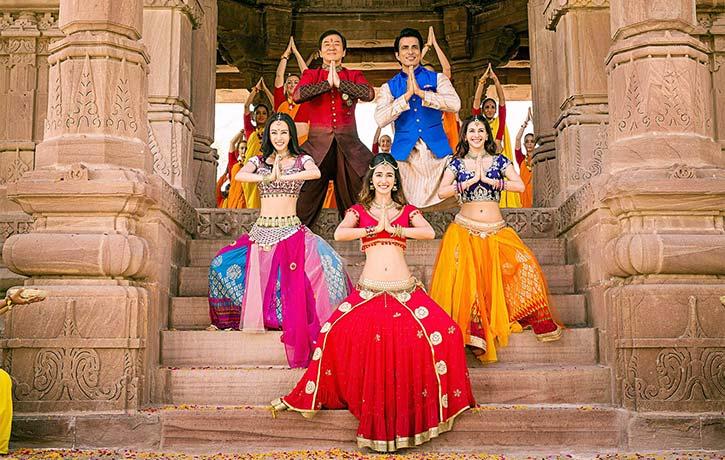 Namaste from Jackie and cast on Kung Fu Yoga