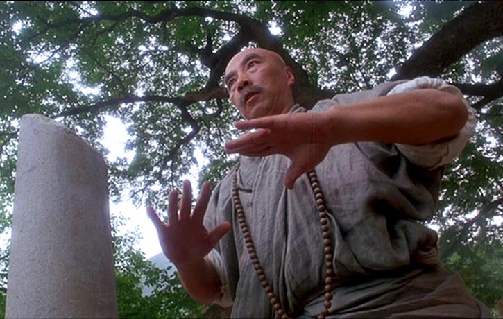 Yu Hai true to form plays the Shaolin Head Master