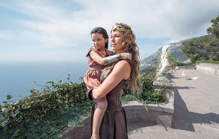 Hippolyta tells Diana of her origins..
