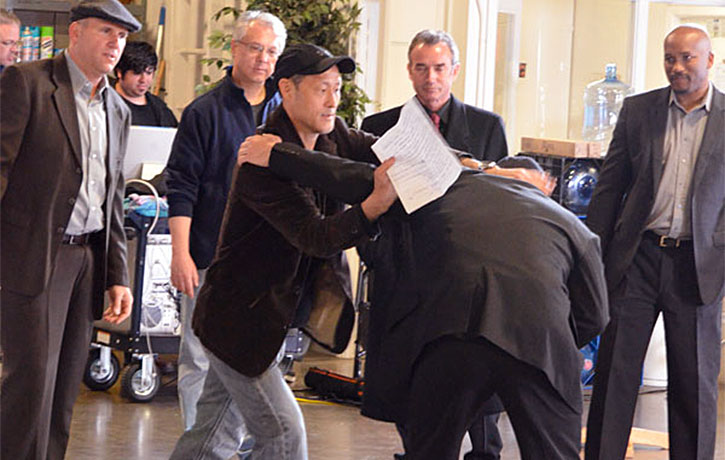 Jino working out a fight sequence