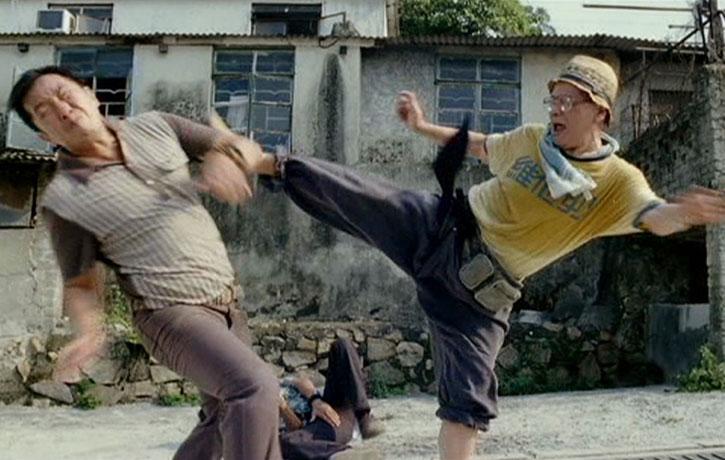 Leung Siu-lung as Tiger still moves incredibly