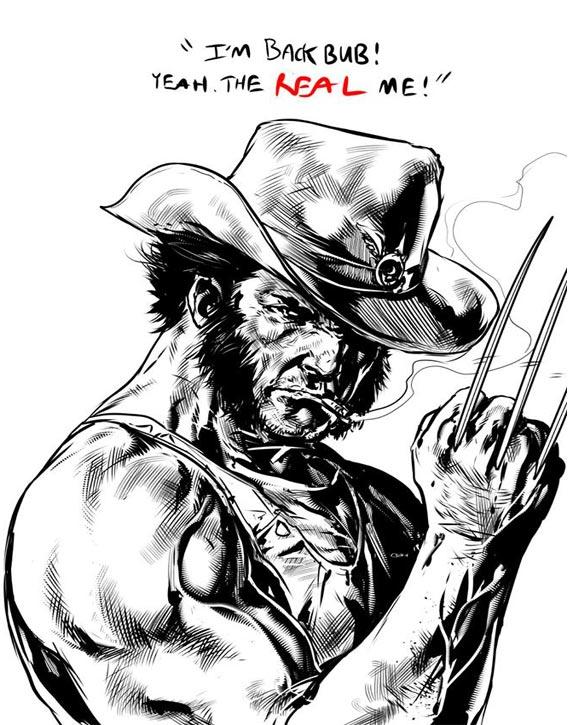 Caanan's draws Wolverine in exquisite detail!