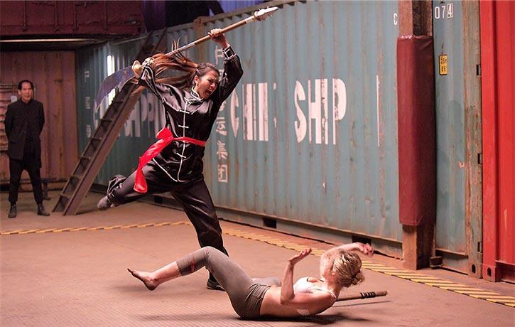 Jane dodges an overhead strike!