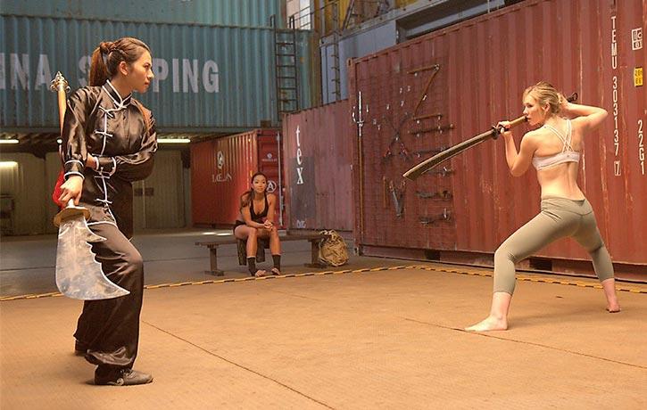 Jane prepares to cut down her foe