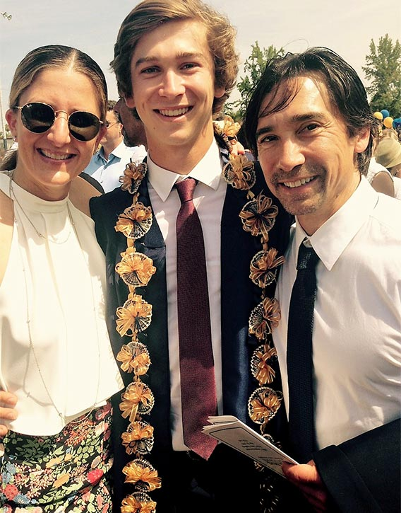 Keith with Justine & son