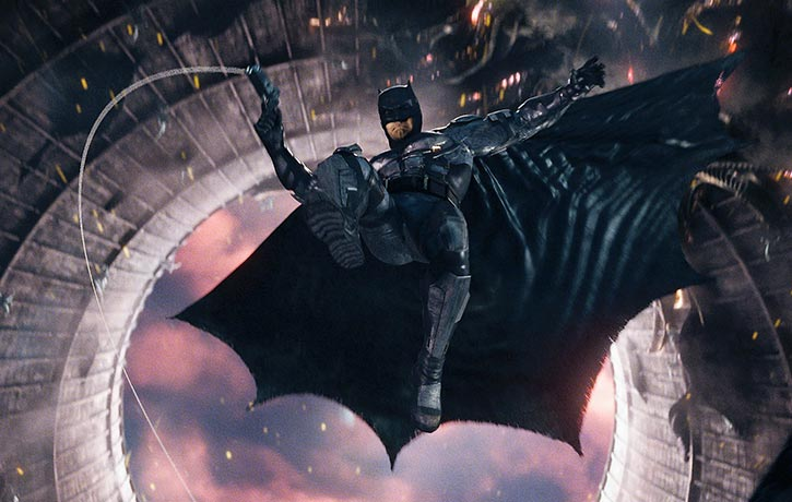Batman leaps into the fight