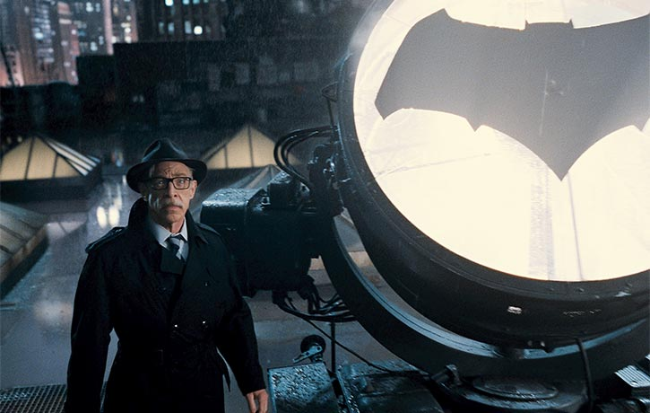 Commissioner Gordon sends out the Bat Signal