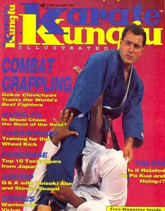 On the cover of Karate Kung Fu Illustrated