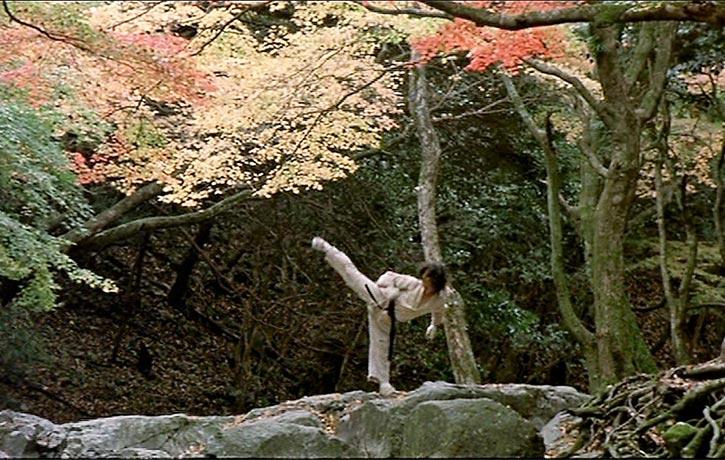 Oyama kick starts his brutal training