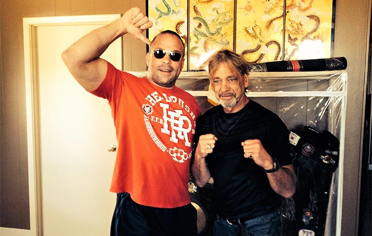 Thumbs up from Rob Van Dam