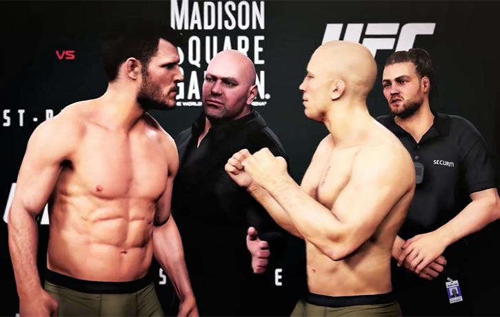 A little mandatory tension at weigh-in!