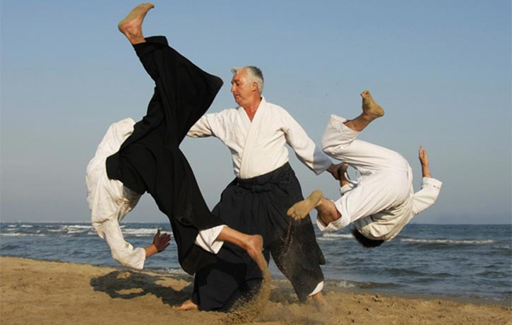 Aikido defense two on one