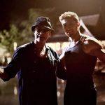 Alain with Jean Claude Van Damme on the set of Kickboxer Retaliation