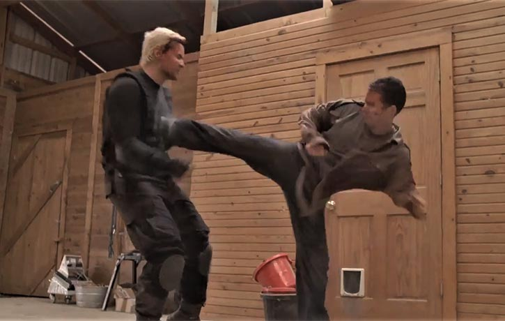 Jack lands a powerful sidekick