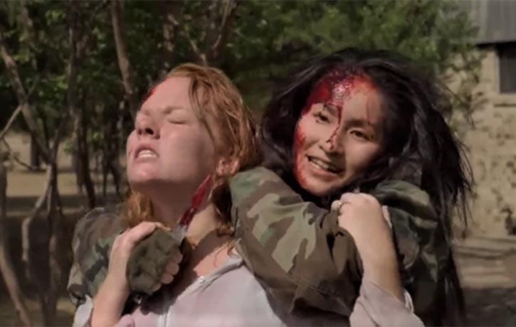 Sakura holds Lisa hostage