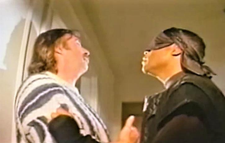 The Black Ninja interrogates Fanellis henchman