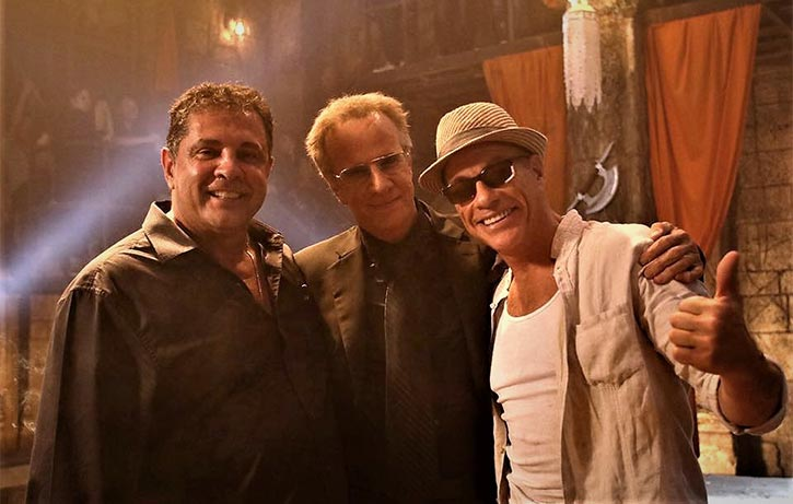 Dimitri with Jean Claude Van Damme Christopher Lambert on the set of Kickboxer Retaliation