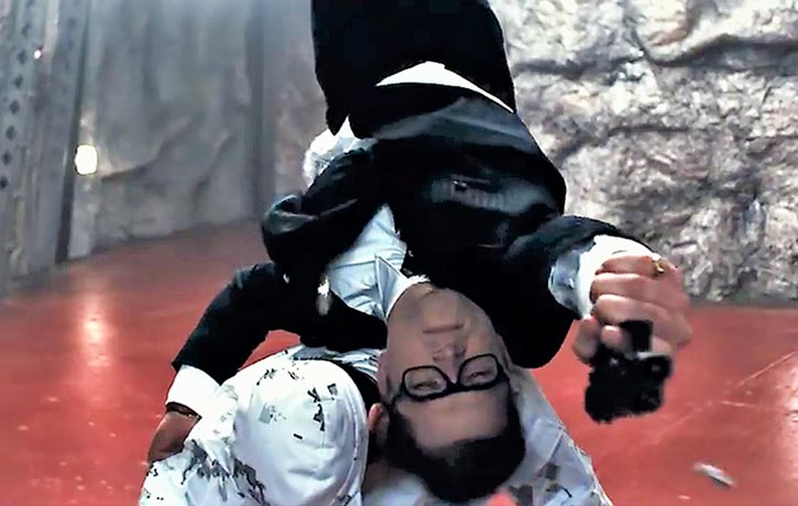 Eggsy has incredible marksmanship