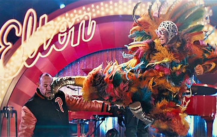 Elton John executes a flawless flying sidekick nuff said