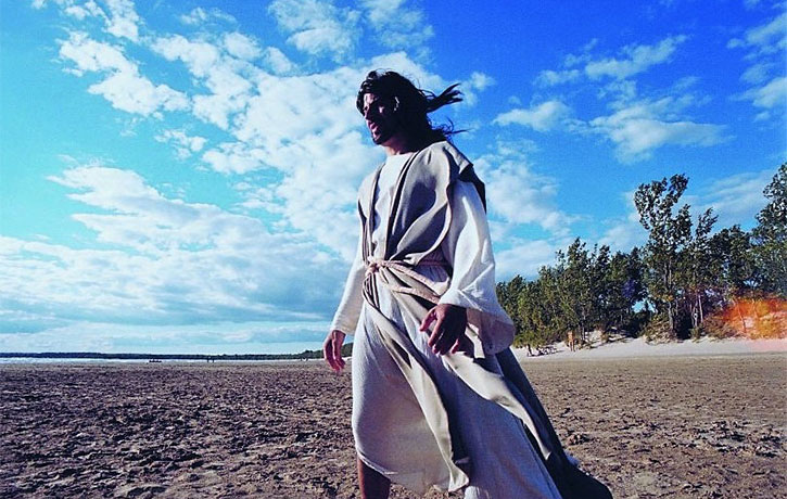 Jesus down at the beach
