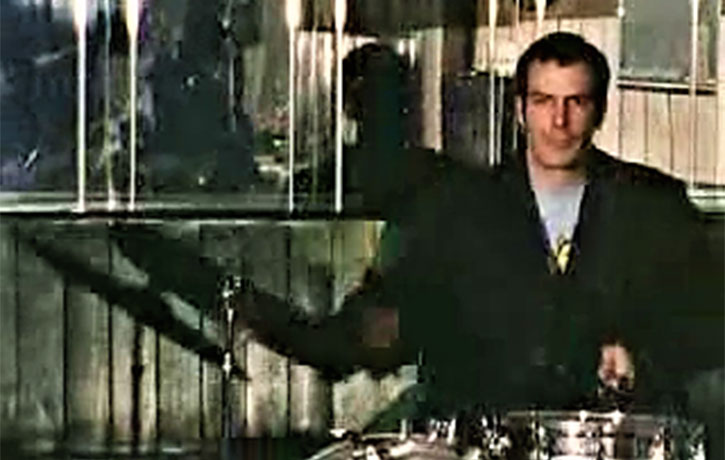 Jesus rocks some drums!