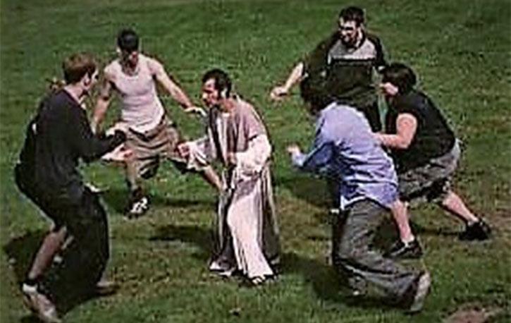 Jesus vs multiple fiends