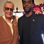 Chadwick Boseman with comic book legend Stan Lee