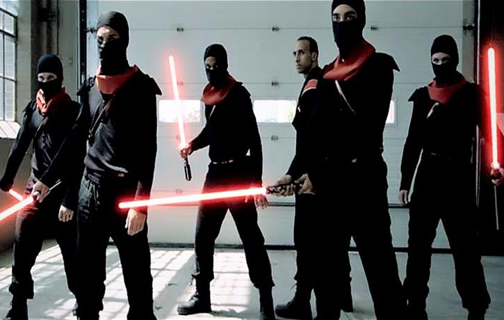 James and Team 2X produced the viral hit Jedi Ninjas