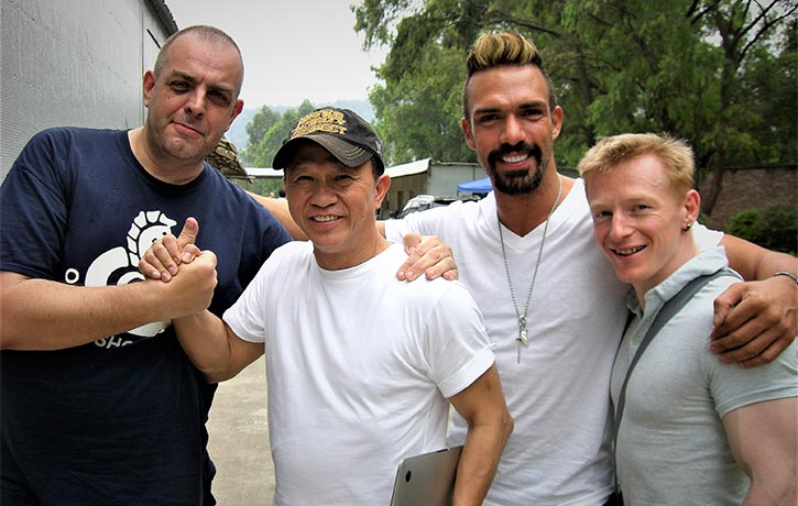 Mike and crew with the late Darren Shahlavi RIP