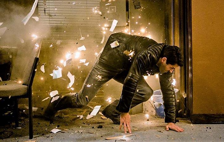 Mike flees from a ballistic assault 1