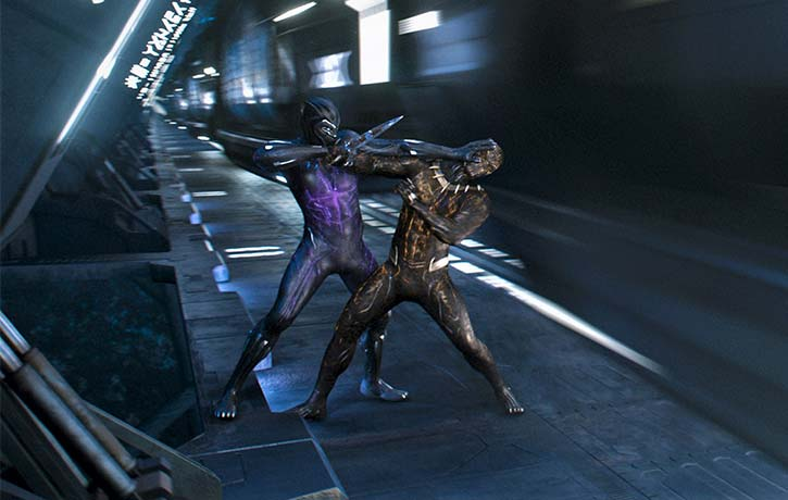 TChalla and Killmonger face off