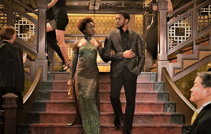 TChalla and Nakia working undercover