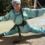 Michelle Yeoh demonstrates her impressive flexibility
