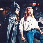 Dave with Michael Keaton on Batman Returns