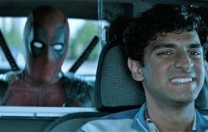 Deadpool gets a cab to his next hit