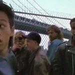 Mike with Ernie Reyes Jr in an early role in Teenage Mutant Ninja Turtles 2