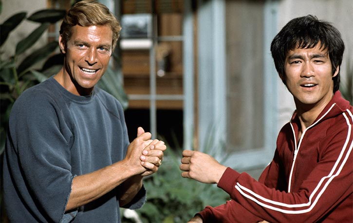 Bruce Lee with James Franciscus Credit ABC Getty Images